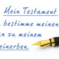 Formulierungshilfe: der Alleinerbe im Testament